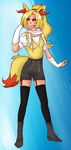 [OPEN] Gijinka Adopts: Braixen (CLOSED) by Setsuna-Yena