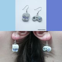 SNES Earring Set by ChibiSilverWings