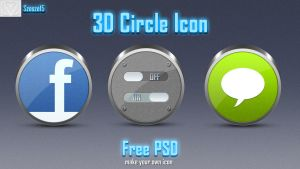 3D Circle Icon + free base 3d icon PSD by Szesze15