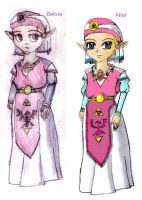 Zelda picture Before and After by The-Scary-Sister