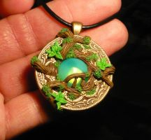 Enchanted Forest - handmade Pendant by Ganjamira