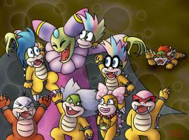 Cackletta takes the Koopalings by LajosJancsi