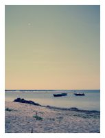 lonely boats in sea by froet