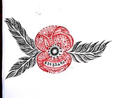 Remembrance Poppy *Tattoo Design TAKEN* by MakeMeButterfly