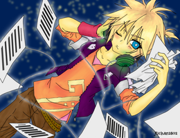 Colored lineart - Len by Akeudi