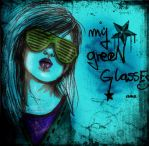 XmY grEeN gLAssEsX by frikibunny8