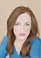 Laura Osnes (Colored Pencil drawing) by julesrizz