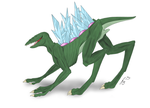Sightless Crystal Lizard Beast by Chiharu02