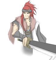 Captain Renji Reference Sketch by Arrancarfighter
