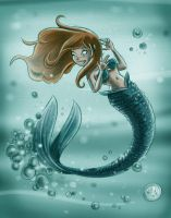 Redheaded Mermaid by mikemaihack