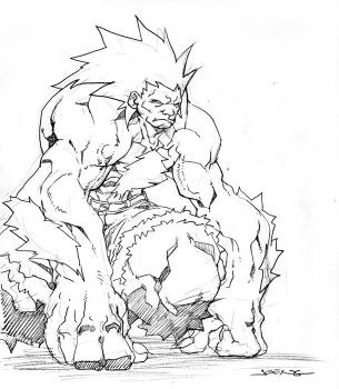 Blanka sketch by NgBoy