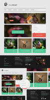 + Web Layout: Modern Nature by sh0Rai
