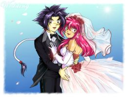 Beyblade Wedding: Ray and Mariah by TechnoRanma