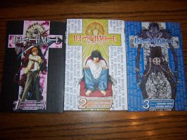 Death Note Volumes 1, 2, and 3 by purple-panda64