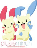 vector.love: plusle and minun by manitcha
