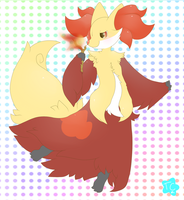 : Delphox : by ToxiicClaws