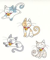 Lucky Cats by CaptainMorwen