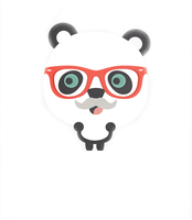 Hipster Panda png by geneeditions