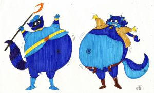 Sly and Carmelita's Blueberrification by EmperorNortonII