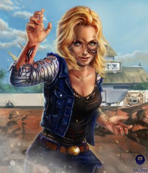 Android #18 - The Bloody Cartoon Tournament by DavidGalopim