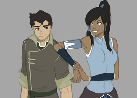 Bolin and Korra by SkyDominic