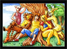 Winnie-The-Pooh and friends by Zardra