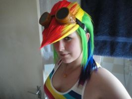 Rainbow Dash wig FINISHED by LadyNanaki