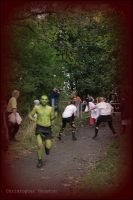 The Green Man  escapes zombies by squareprismish
