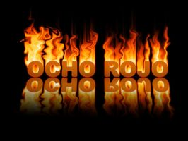 Ocho Rojo on Fire by kara314159