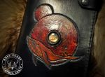 Gojira Inspired Custom Leather Journal Cover by EastCoastLeather