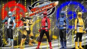 Tokumei Sentai Go-Busters (5 members) by blakehunter