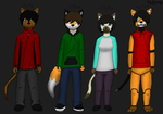 My OCs' family picture (Updated) by GinoPinoy