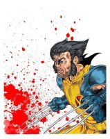 Wolverine Blood Splatter by VincentBryantArt