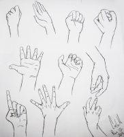 Hand Practice by DoodlesAndPictures