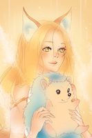 Hedgehog and me by Kristallin-F