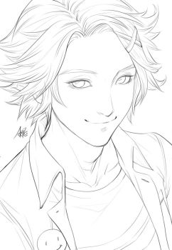 Yoosung Sketch for Coloring by Artgerm