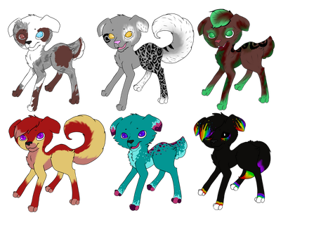 Unique Puppy Adoptables Open by flamelover1
