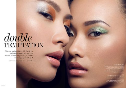 ELLE Indonesia: Double Temptation I by hidden-silly