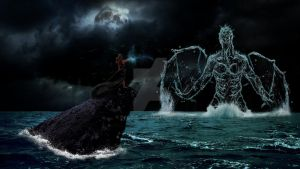 Witch summons a water creature by Pack161