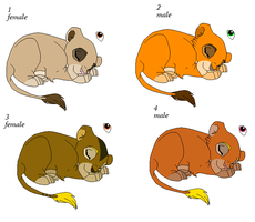 Cubs Adoptables 4 - CLOSED - by Soufroma