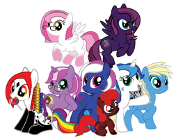 Bunch of ponies by MarinaPg