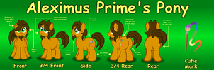 Reference sheet for my pony by AleximusPrime
