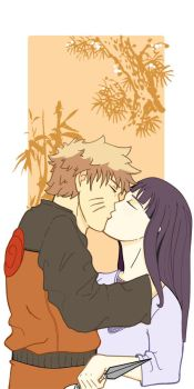 Naruhina colored by silvercross00