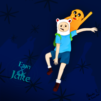 FF Finn and Jake by Quakmyre
