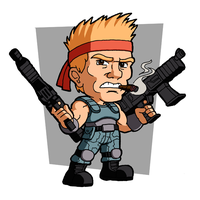 Bill Rizer (Contra) by fryguy64