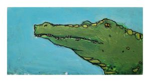 Little Paintings - Crocodile by Duffzilla
