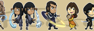 Stickers: Avatar Legend of Korra Set 2 by forte-girl7