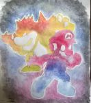 Mario and Bowser painting by sega-boy09