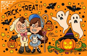 Halloween at Gravity Falls by pikaplusmin