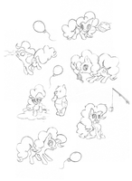 Pinkie Pie sketches by Hydro-King